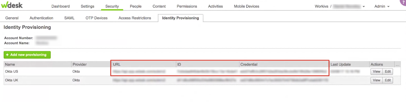 Configuring Provisioning for Wdesk | Wdesk Help