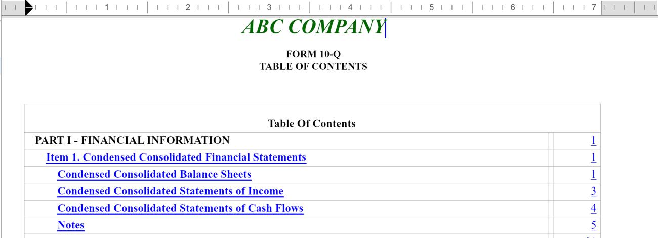 how to create hyperlink in word table of contents