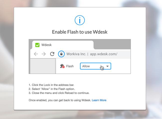 Configure Flash Settings in Chrome | Wdesk Help