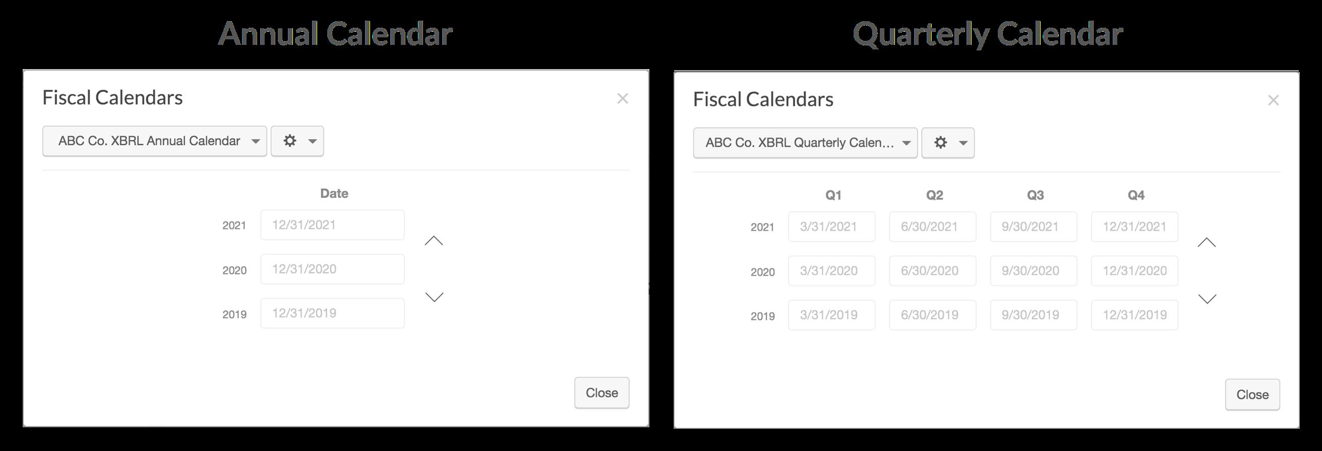Setting Up Fiscal Calendars   Wdesk - Help